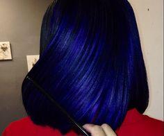Best Sapphire Blue Hair Color Ideas for Women Look More Stylish Hair Color Blue, Purple Hair, Pelo Color Azul, Pelo Multicolor, Curly Hair Styles, Natural Hair Styles, Beautiful Hair Color, Look Girl, Hair Laid