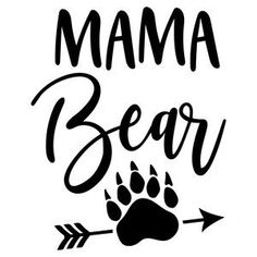 I think I'm in love with this design from the Silhouette Design Store! Free Font Design, Design Logo, Silhouette Cameo Projects, Silhouette Design, Bear Silhouette, Silhouette Images, Silhouette Cutter, Mothers Day Poster, Happy Mothers Day