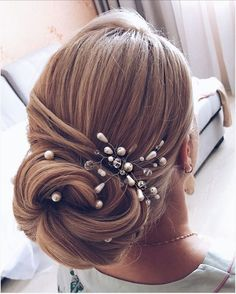 This gorgeous unique updo wedding hairstyle you will love