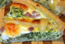 Quiche Légère aux Courgettes Jambon et Skyr WW Sushi, Breakfast, Healthy, Ethnic Recipes, Food, Diners, Calories, Quiches, Muffins