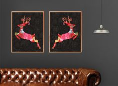 Buy Kantha Running Deers with Black Two Block Print Wall Art Online @ Best Price.   DM or email us at hello@thevirasat.com for retail orders, exports, wholesale or for anything else you may require.  #mumbai #jaipur #textilesexporter #homelinen #blockprints #kanthawork #london #countrymagazine #londonhomes #texas #ohio #countryhomes #cheshire #stalbans #hertfordshire #jaipurtextiles #bedsheets #bedcovers #Virasattextiles #blockprint #wallart #art #paintings #homedecor