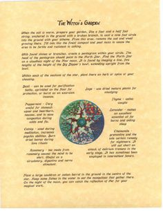 Book of Shadows page about How to Plant a by OpentheBookofShadows, $3.00