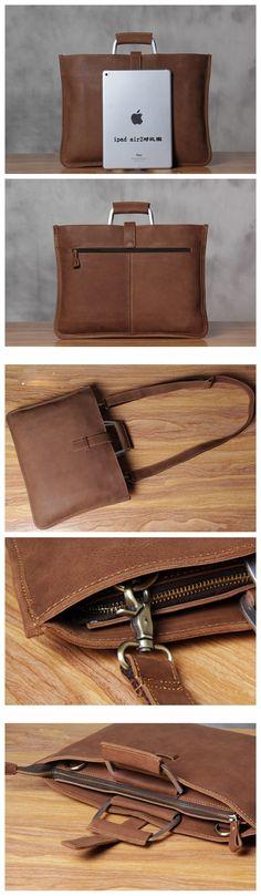 ROCKCOW Genuine Leather Mens Briefcase Laptop Bags Men's Travel Bag Cowhide Men Shoulder Bags Business Man Handbag
