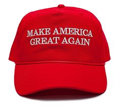 95dd949eaed Make America Great Again Embroidered Donald Trump 2016 Unisex-Adult Hat Red Trump  Hat