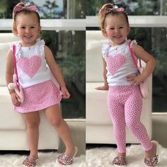 Rac Newborn Kids Baby Girls Cotton Top Skirt Pants Leggings Outfits Clothes USImage may contain: 3 people New in Fashion. I pick right💗💗 Besides, I love her slides the most. Baby Girl Dress Patterns, Baby Girl Dresses, Baby Dress, Baby Girl Vest, Baby Girl Romper, Jumpsuits For Girls, Girls Rompers, Little Girl Outfits, Kids Outfits