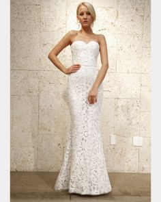 Oscar De La A Lace Wedding Dress At Exclusive