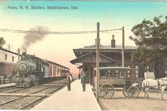 A postcard -- The Middletown Train Station about 1910.  Source:  personal collection