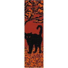 Autumn Cat Peyote Bead Pattern, Bracelet Cuff, Bookmark, Seed Beading... ($2.95) ❤ liked on Polyvore featuring jewelry, bracelets, cuff bangle, beading jewelry, cat bangle, beaded jewelry and cuff jewelry
