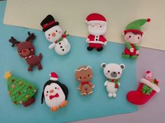 Polymer Clay Christmas, Cute Polymer Clay, Cute Clay, Polymer Clay Dolls, Polymer Clay Projects, Clay Ornaments, Diy Christmas Ornaments, Diy Christmas Gifts, Christmas Decorations