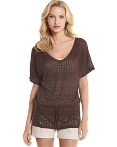 I really love these open-stitch sweaters. So good for spring. WHBM.