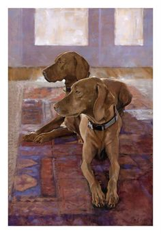 Dogs, 2013 // by Bruce Petrie, OPA Online Showcase Painting Competition Finalist Animal Paintings, Animal Drawings, Art Drawings, Vizsla, Weimaraner, Beautiful Dogs, Beautiful Artwork, Dog Artwork, Painting Competition