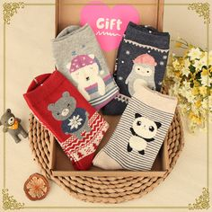 4 Pairs/Pack Holiday Cute Socks SP154189