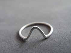 Chevron Stacking Ring Sterling Silver Ring Modern Minimalist Ring by SteamyLab by SteamyLab on Etsy https://www.etsy.com/listing/217544475/chevron-stacking-ring-sterling-silver