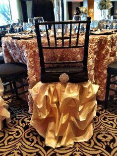 Wedding Chair Skirts  #plantsnpetalshouston