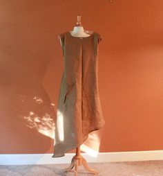 custom  plus size linen calla lily long dress by annyschooecoclothing,