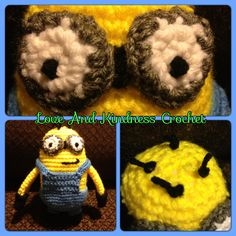 Amigurumi Despicable Me Minion - Measures 8in tall - $25 shipped anywhere in the US