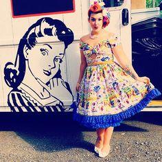 Handmade vintage dress!!!! • • • #seamstresslife #sewing #sewvintage #retrofashion #vintagesewing #retrosewing #sewpretty #pinupmodel #vintagestyle #vintagegirl #seamstressonduty✂️ #pinupgirlstyle #gorgeouslyvintage #vintagelove #sewinqueen #patternsbygertie #retropattern #pinupfashion #vintagefashion #pinup #vintagegirl #pinupgirl #patterndesign #...