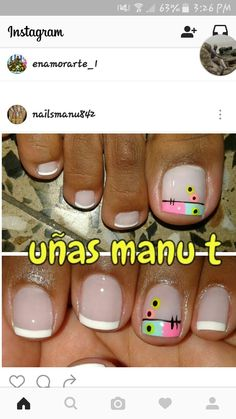 Manicure Y Pedicure, Toe Nail Designs, Toe Nails, Pretty Hairstyles, Hair And Nails, Beauty Hacks, Ideas, Girly Girl, Work Nails