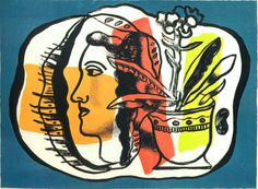 Composition au profile by Fernand Leger