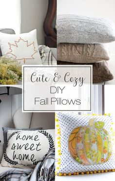 Cute and Cozy DIY Fall Pillows