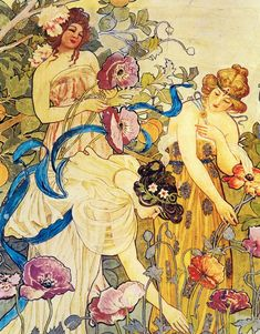 ETTORE DE MARIA BERGLER - 1850 - 1938 Liberty fresco in Villa Igiea - Palermo
