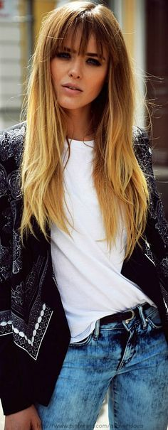 Ombre hair with bangs More