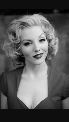 Marilyn inspired hair