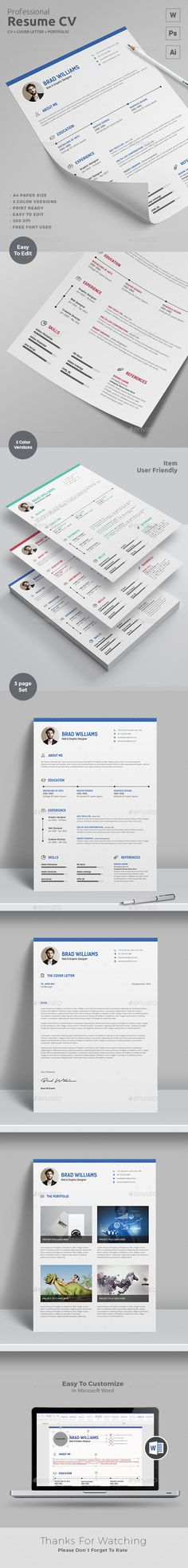 Clean ResumeCv  Resume Cv Resume Layout And Perfect Resume