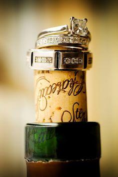 Rings on wine cork.
