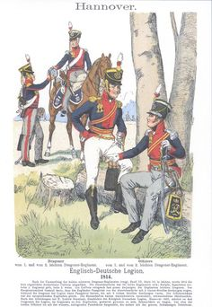 Band III #30.- Hannover. Englisch-Deutsche Legion. Dragoner vom 1. und vom 2. leichten Dragoner-Regiment. Offiziere vom 1. und 2. leichten Dragoner-Regiment. 1814.