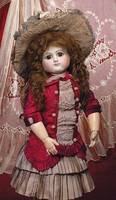 Lot: 109: RARE FRENCH BISQUE BEBE BY PETIT & DUMONTIER WITH , Lot Number: 0109, Starting Bid: $5,000, Auctioneer: Frasher's Doll Auction, Auction: DOLL AUCTION - A SHOPPING SPREE FOR BEBE & ME, Date: November 5th, 2011 MDT