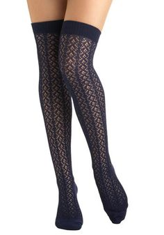 Shop ModCloth for our assortment of the women's tights, printed, opaque and polka dot! Get OFF when you buy 2 pairs of tights at ModCloth! Thigh High Socks, Thigh Highs, Knee Highs, Best Socks For Running, Nylons, Peek A Boo Bra, Pantyhose Fashion, Striped Socks, Argyle Socks