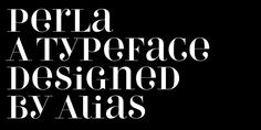 Perla - Webfont & Desktop font « MyFonts