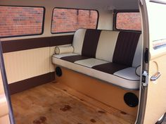 Click this image to show the full-size version. Outdoor Sofa, Outdoor Furniture, Outdoor Decor, Rock And Roll Bed, Volkswagen, Vw T1, Campervan Interior, Vw Camper, Mazda