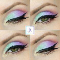 Check out our favorite Unicorn inspired makeup look. Embrace your cosmetic addition at MakeupGeek.com! Más
