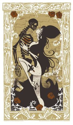 Elvira by Gris Grimly - Limited Edition Poster Print (Brown) Signed by Gris Grimly : Posters & Standees