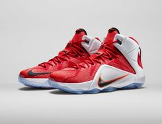 low priced 432a1 dec67 WMNS LeBron 12 GS Red White Lion Heart Red White Crimson