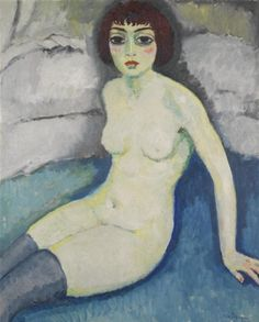 Painting by Kees van Dongen (1877-1968), 1913, Bas bleu, oil on canvas.