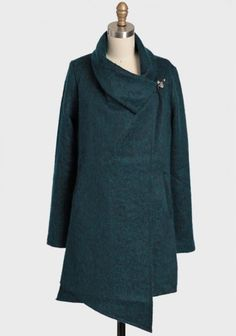 Christopher Coat By BB Dakota 114.99 at shopruche.com. Look stunning in this heavy teal coat from BB Dakota. This gorgeous coat features vertical welt pockets and an asymmetrical hem and collar. Finished with a single clip closure. Fully Lined.Self: 67% Polyester, 33% Wool, Lining: 100% Polyester, Imported,...