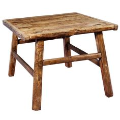 Handcrafted from reclaimed elm wood, this wonderful side table is perfect for any room in the house. Great for designing your home and practical use, this wonderfully vintage table is a great addition to your home.