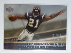 #Ladainian #Tomlinson 2001 UD Great Futures #NFL Legends #Rookie Card #RC #727/750 http://r.ebay.com/jkrHzr @eBay #chargers #sale #football