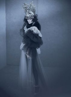 Tilda as Marchesa Casati - wow she looks amazing with dark hair