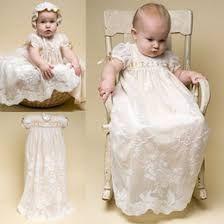 Resultado de imagen para vestidos largos de bautizo para niñas