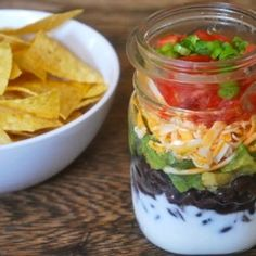 This healthy idea has a complete layered salad in a mason jar. Great idea for a camping trip  http://thegardeningcook.com/camping-foods/