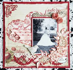 From our Design Team! Layout by Arlene Cuevas featuring these Dies - Lattice Border Die, Stitched Elements (Set of 7) Die, Cherry Blossom flowers die, Heart Doily die, Open Lead Flourish die, Creepy vines die, Rolled Rose Small & Medium die, Filigree Corner die :-)  Shop for our products here - shop.lalalandcrafts.com   More Design Team inspiration here - http://lalalandcrafts.blogspot.ie/2014/12/inspiration-friday-anything-but.html
