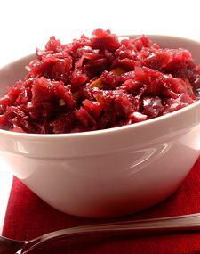rødkål {kind of a pickled red cabbage, somewhat sauerkraut tasting, but sweet}
