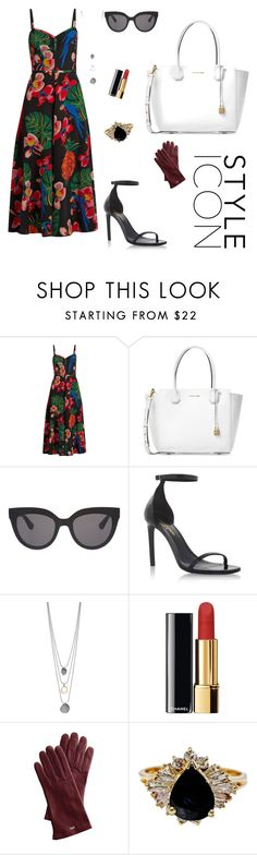 """""""Untitled #34"""" by fatmeza on Polyvore featuring Valentino, Michael Kors, Christian Dior, Yves Saint Laurent, Chanel and Mark & Graham"""
