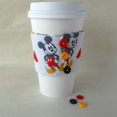 Mickey Mouse cup cozy Disney Mickey coffee by DeegeeMarieGifts