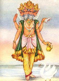 Brahma | ... , God Goddess Images, Snaps, Wallpaper: Hindu God Brahma's Appearance