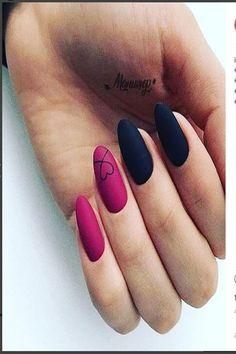 "Exclusive Black and Reddish Pink Nail Art Designs 2019 Exclusive Black and Reddish Pink Nail Art Designs ""pinner"": {""username"": ""sassysnippy"", ""first_name"": ""Brittany"", ""domain_url"": null, ""is_default_image"": false, ""image_medium_url"":. Matte Pink Nails, Pink Nail Colors, Pink Nail Art, Manicure Colors, Manicure Ideas, Pink Black Nails, Nail Black, Matte Red, Glitter Nails"
